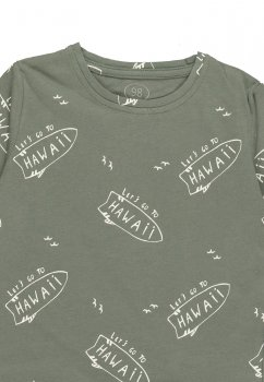Стильний джемпер для хлопчика з натуральної бавовни Фламінго текстиль 933-124-01 хакі