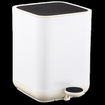 Відро для сміття з педаллю JAH Nordic Style 5 л білий квадрат. з вн. відром