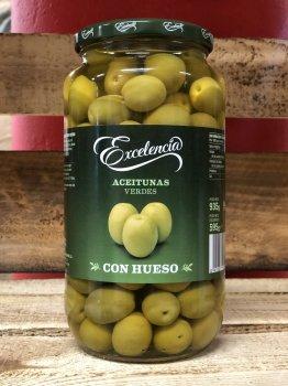 Зеленые оливки Excelencia 935/595г