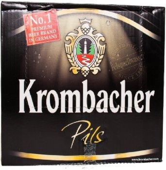Упаковка пива Krombacher Pils светлое фильтрованое 4.8% 0.33 л х 24 шт(4008287058161)