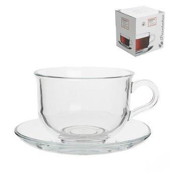 Чашка с блюдцем для чая 290 мл 4 предмета Tashkent Pasabahce 96806