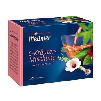 Чай Мессмер ( Meßmer - Messmer ) травяной чай 6-травяная смесь 50 пакетиков