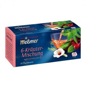 Чай Мессмер ( Meßmer - Messmer ) травяной чай 6-травяная смесь 25 пакетиков