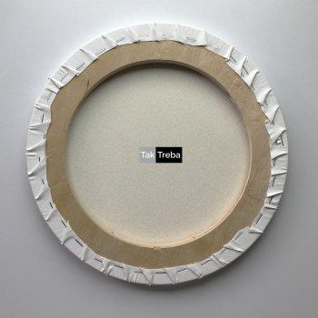 Друк на круглому бавовняному полотні 30 см із підрамником Ra
