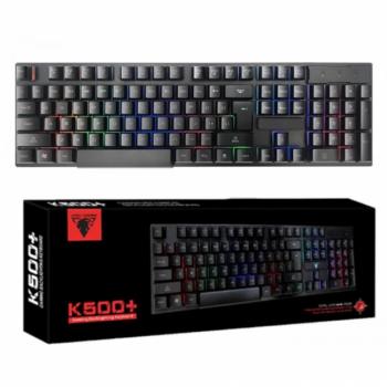 Клавіатура Jedel K500+ провідна ігрова з кольоровою RGB підсвіткою Чорна (12013)