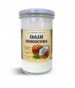 Кокосова олія Organic Oils Холодного віджиму не рафінована 500 мл