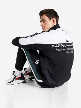 Спортивна кофта Kappa 107820-BW Чорна з білим