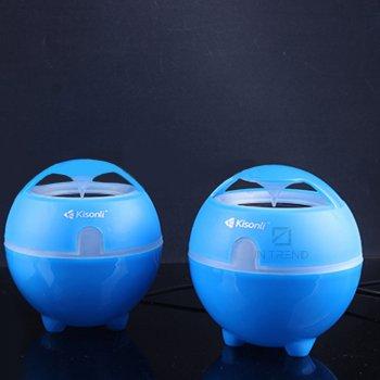 Колонки для ПК и ноутбука Kisonli S999 компактные маленькие громкие и мощные для компьютера – акустическая система + качественный звук - Синий