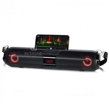 Колонки для ПК и ноутбука Kisonli LED-900 компактные громкие и мощные для компьютера AUX / FM / LED TF карта + качественный звук – акустическая система, Черный