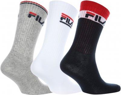 Шкарпетки Fila 106999-WM 3 пари Білі із синім