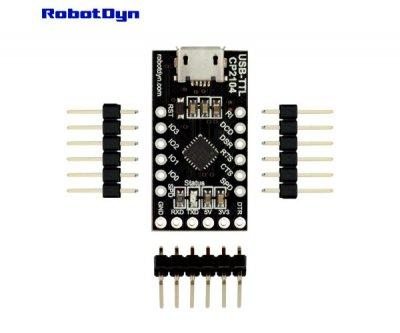 Конвертер MicroUSB UART CP2104 Robotdyn