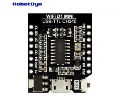 Конвертер USB-TTL CH340G для Wemos / WIFI D1 mini Robotdyn