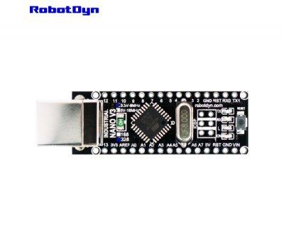 Плата контролер RobotDyn NANO V3 посилений розпаяний 5В