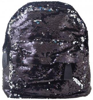 Рюкзак молодежный с пайетками Yes GS-03 Black для девочек 0.55 кг 26х32х13 см 10 л (557655)