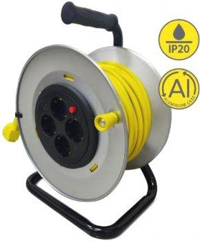 Удлинитель на катушке 2Е 4 розетки 50 м Yellow (2E-U04REM50M)
