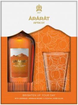 Набор крепкий алкогольный напиток ARARAT Apricot 0.7 л 35% + 1 стакан (4850001006930)