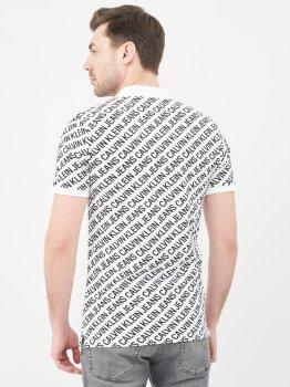 Поло Calvin Klein Jeans Diagonal Logo Aop Polo J30J317444-YAF Ck White