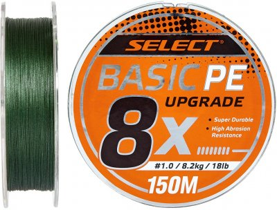 Шнур Select Basic PE 8x 150 м #0.8/0.12 мм 14 lb / 6 кг Темно-зеленый (18703133)