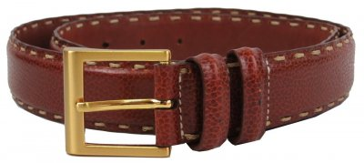 Женский кожаный ремень Ermenegildo Zegna, Италия, коричневый SFA760