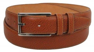 Женский кожаный ремень, пояс Ermenegildo Zegna, Италия, SFA778 коричневый
