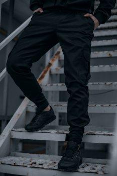 """Штаны мужские коттоновые Intruder """"Baza"""" брюки осенние весенние летние черные"""