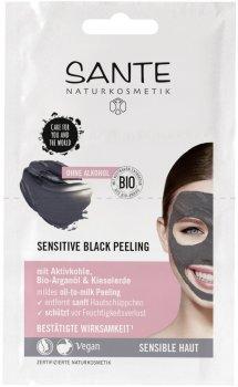 Био-пилинг для лица Sante для чуствительной кожи Sensitive Black 2 x 4 мл (4025089083856)