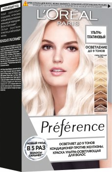 Краска для волос L'Oréal Paris Preference Ультра-платиновый 154 мл (3600523970780)