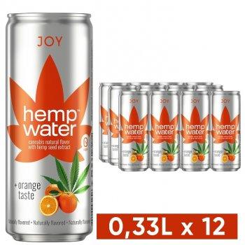Упаковка слабогазированной воды Моршинська Hemp Water Joy Каннабис-апельсин 0.33 л х 12 шт (4820000431613)