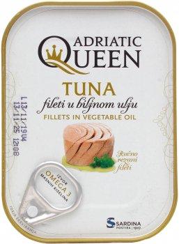 Тунец Adriatic Queen филе в масле 105 г (3850160108064)