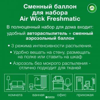 Сменный аэрозольный баллон к Air Wick Freshmatic Лимон и женьшень 250 мл (4607109402191)