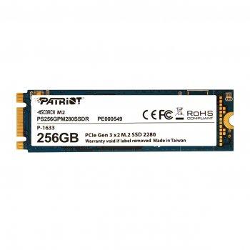 SSD накопичувач 256GB Patriot Scorch M. 2 2280 PCIe 3.0 x2 3D TLC (PS256GPM280SSDR)