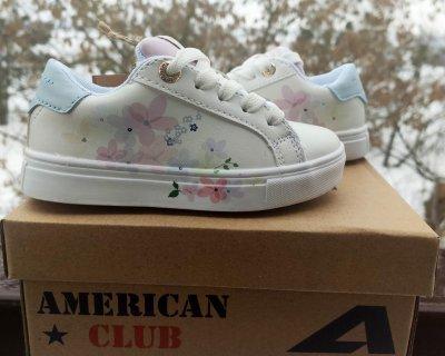 Дитячі кеди для дівчинки American Club ES 20/21 білого кольору