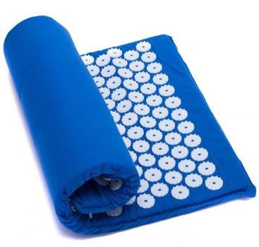 Коврик ортопедический массажный СИНИЙ Acupressure mat с подушкойИпликатор Кузнецова