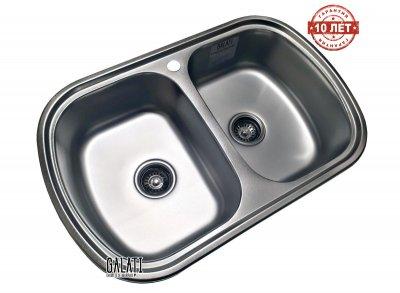 Кухонна мийка Galati Vayorika 2C Satin (8489)
