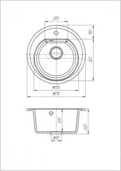 Кухонная мойка Galati Klasicky Teracota 701 (8736)