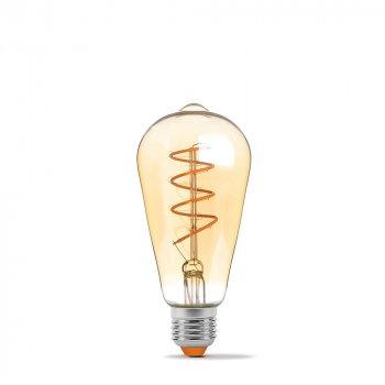 Світлодіодна лампа VIDEX Neoclassic ST64FASD 5W E27 2200K 220V филаментная з діммером золота (VL-ST64FASD-05272)