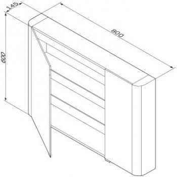 Зеркальный шкаф AM.PM Like 80 см M80MCX0800WG38 белый глянец