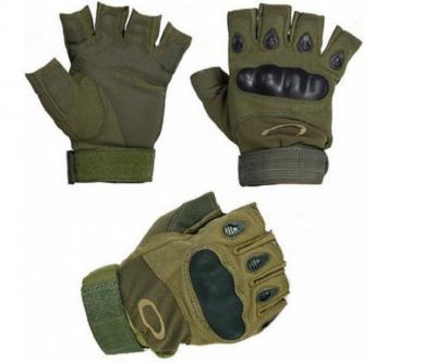 Велоперчатки с открытми пальцами и усиленным протектором косточек Зеленые розмер XL