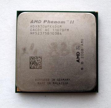 Процесор AMD Phenom II X4 830 2,8 GHz sAM3 Tray 95w (HDX830WFK4DGM) Deneb Б/У