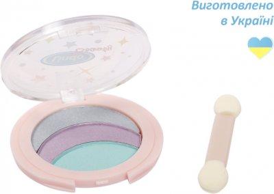 Тени для век цветные Lindo тон 1 бирюзовый, фиолетовый, серый (4826721518459)