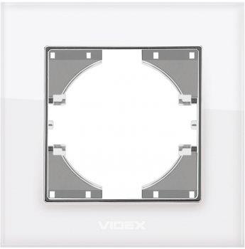 Рамка VIDEX Binera одинарна Біле скло (VF-BNFRG1H-W)