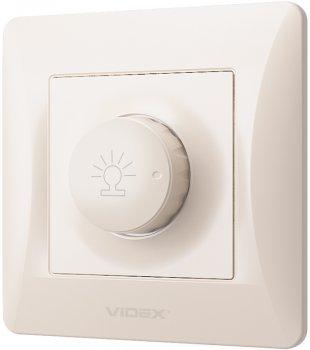 Світлорегулятор поворотний VIDEX Binera 600 Вт Кремовий (VF-BNDM600-CR)