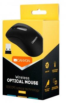 Мышь Canyon CNE-CMSW2 Wireless Black