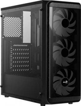 Корпус Aerocool SI-5200 Frost-A-BK-v1 RGB Acrylic Side Panel Black