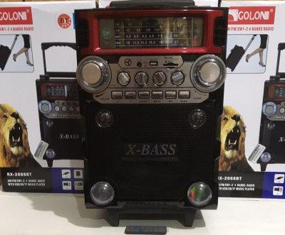 Колонка Комбік Bluetooth MP3 FM Радіомікрофон Пульт ДУ Акустична система Golon RX-2088BT
