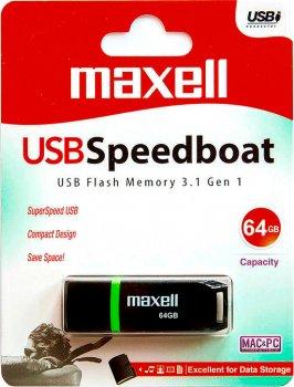 Maxell Speedboat USB 3.1 64GB Black (4902580780005)