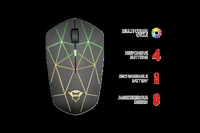 Бездротова миша Trust GXT 117 Strike Wireless Gaming Mouse(22625)