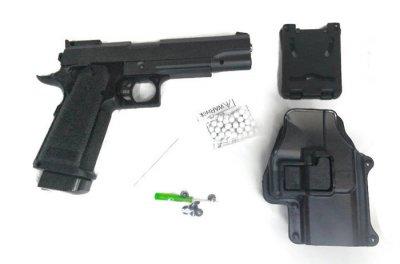 Страйкбольный пистолет Galaxy G6+ (Colt M1911) с кобурой