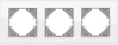 Рамка VIDEX Binera на 3 пости горизонтальна Біла (VF-BNFRG3H-W)
