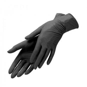 Перчатки чёрные Nitrylex Black нитриловые неопудренные S RD30104002